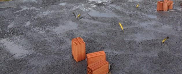 Laje concretada com concreto usinado